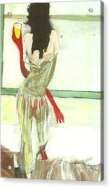 Red Gloves Red Shoes Red Throng 3d Acrylic Print by Harry WEISBURD