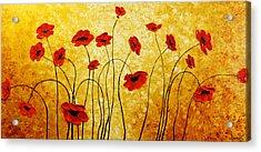 Red Gold Acrylic Print by Irena Sherstyuk