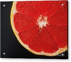 Acrylic Print featuring the photograph Red Grapefruit by Jasna Gopic