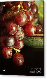 Red Grapes Acrylic Print by Darren Fisher