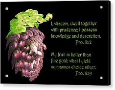 Red Grapes Pro. 8 V19 Acrylic Print by Linda Phelps