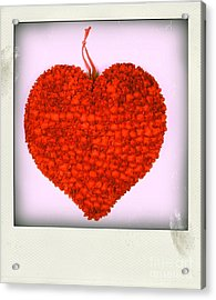 Red Heart Acrylic Print
