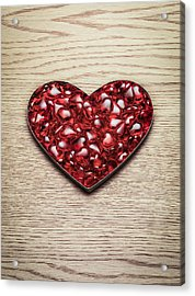 Red Hearts In A Heart Shape Acrylic Print by Jonathan Kitchen