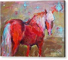 Red Horse Contemporary Painting Acrylic Print by Svetlana Novikova