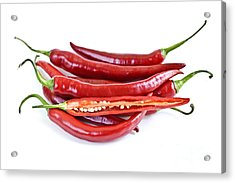 Red Hot Chili Peppers Acrylic Print by Elena Elisseeva