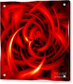 Acrylic Print featuring the digital art Red Hot by Davandra Cribbie