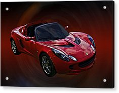 Red Hot Elise Acrylic Print by Mike  Capone