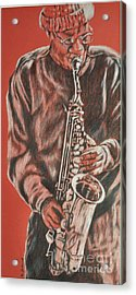 Red Hot Sax Acrylic Print