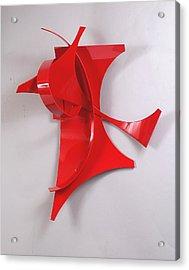 Red Incident Acrylic Print by Mac Worthington