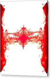 Red Ink Abstract Acrylic Print by Richard Thomas