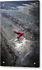 Red Is Swimming Acrylic Print by Joana Kruse