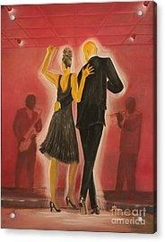 Red Jazz Acrylic Print by Barbara Hayes