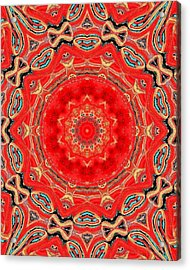 Acrylic Print featuring the painting Red Kalideoscope by Carolyn Repka