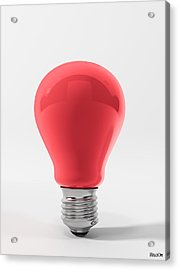 Red Lamp Acrylic Print by BaloOm Studios