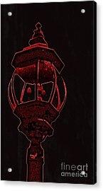 Red Light District Acrylic Print by EGiclee Digital Prints