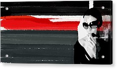 Red Line Acrylic Print by Naxart Studio