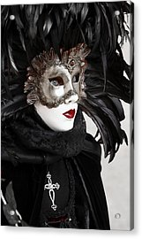 Red Lips Acrylic Print by Simona  Mereu