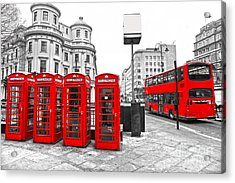 Acrylic Print featuring the photograph Red London by Luciano Mortula