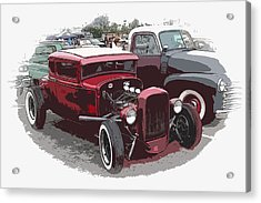 Red Model A Coupe Acrylic Print by Steve McKinzie