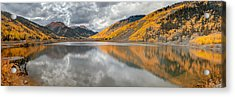 Red Mountain Acrylic Print by Jennifer Grover