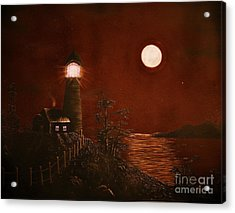 Red Night Acrylic Print by Barbara Griffin