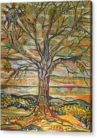 Red Oak Waiting Acrylic Print