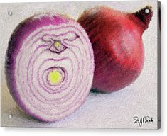 Red Onions Acrylic Print by Michael Fencik