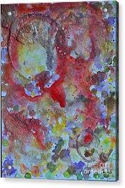 Red Ovals Acrylic Print by Bill Davis