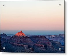 Red Peak Acrylic Print by Dave Bowman