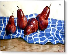 Red Pears Acrylic Print