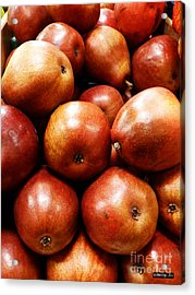 Red Pears Acrylic Print by Methune Hively