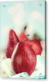 Red Pears Acrylic Print by Stephanie Frey