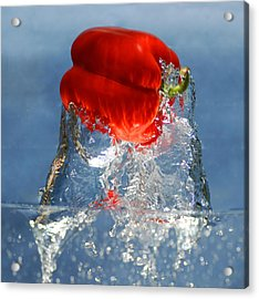 Red Pepper Splash Acrylic Print by Dung Ma
