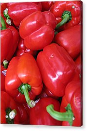 Acrylic Print featuring the photograph Red Peppers by Brian Sereda