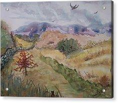 Red Pin Oak Acrylic Print