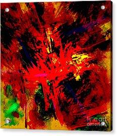 Red Planet Acrylic Print by Vidka Art