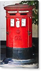 Red Post Box Acrylic Print by Dawn OConnor