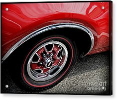 Red Power Of 442 Oldsmobile Acrylic Print