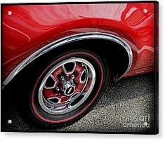 Red Power Of 442 Oldsmobile Acrylic Print by Alexandra Jordankova