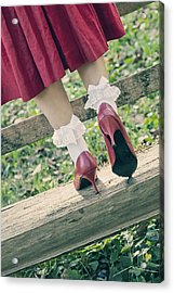 Red Pumps Acrylic Print by Joana Kruse