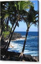 Red Road Drive On Hawaii Island Acrylic Print by Kerri Ligatich