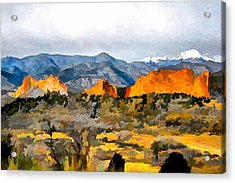 Acrylic Print featuring the digital art Red Rock Country by Brian Davis