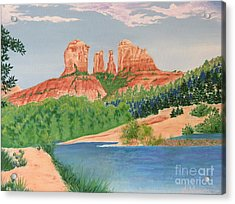 Red Rock Crossing Acrylic Print by Aimee Mouw