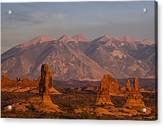 Red Rock Of Arches Acrylic Print by Andrew Soundarajan