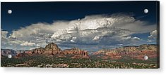 Red Rock Storm Acrylic Print by Scott Faunce