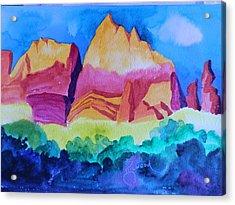 Red Rocks Of Sedona Acrylic Print
