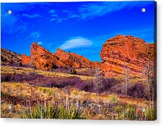 Red Rocks Park Colorado Acrylic Print by David Patterson