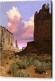 Red Rocks Acrylic Print by Snake Jagger
