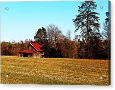 Red Roof Tobacco Barn Acrylic Print