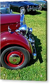 Red Rover Come Over Acrylic Print by Larry Bishop